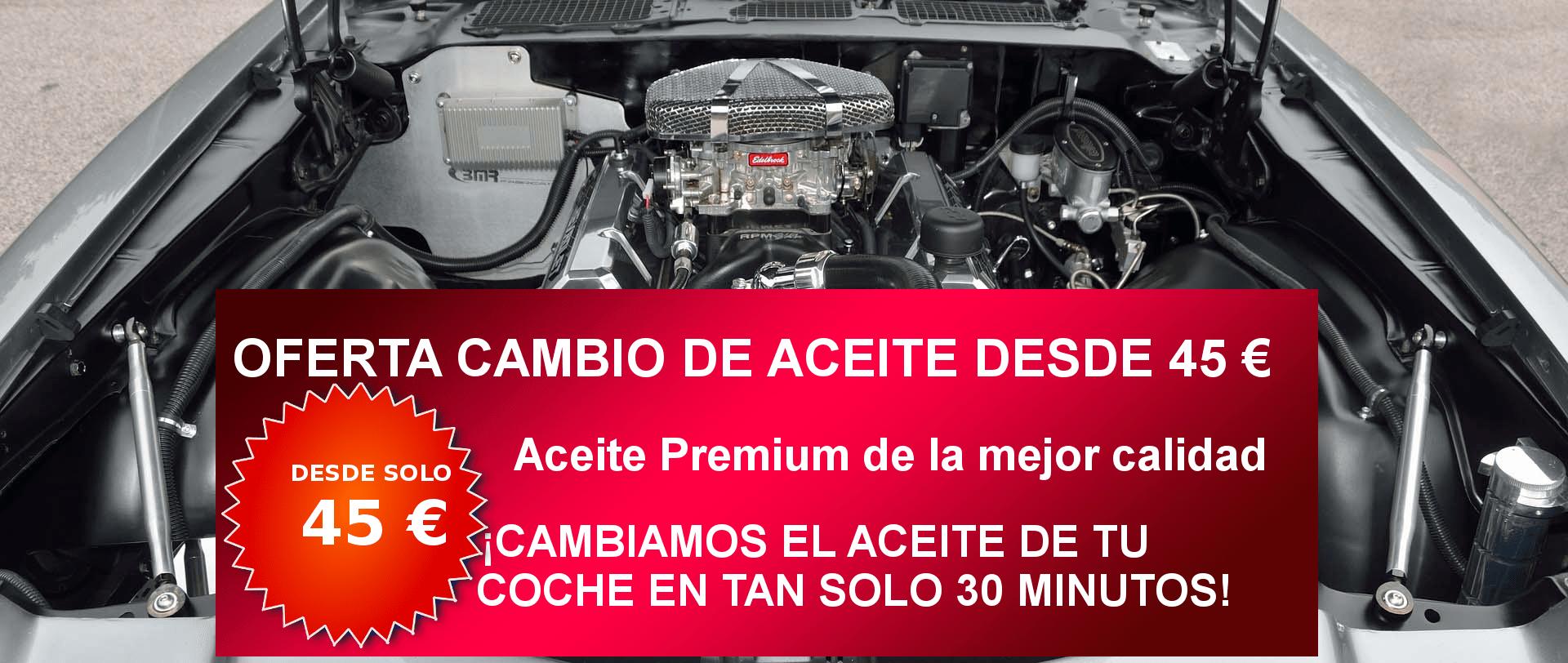Oferta cambio de aceite y filtro Taller Alcalá de Henares